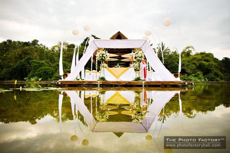 The cool and lush surrounding of Four Seasons Resort Bali at Sayan.