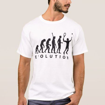 evolution tennis T-Shirt - tap to personalize and get yours