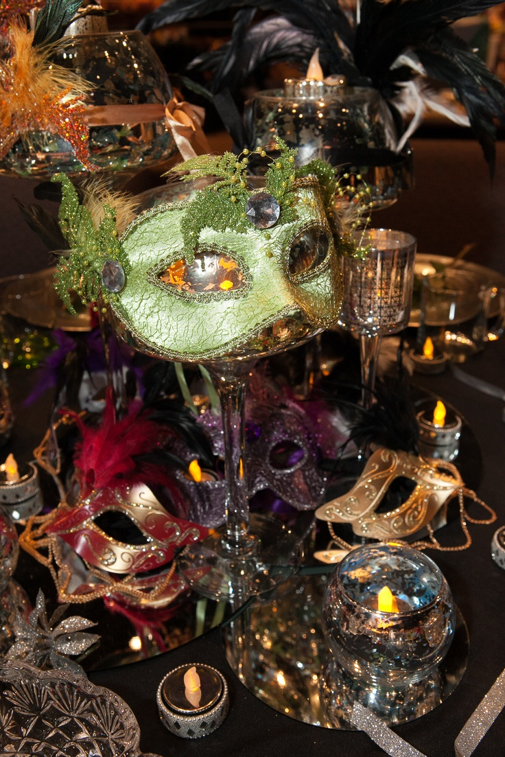 Cool Way To Elevate Masks On Table By Wrapping Them Around A Wine Glass! Masquerade  WeddingMasquerade BallProm IdeasMasqueradesTheme ...