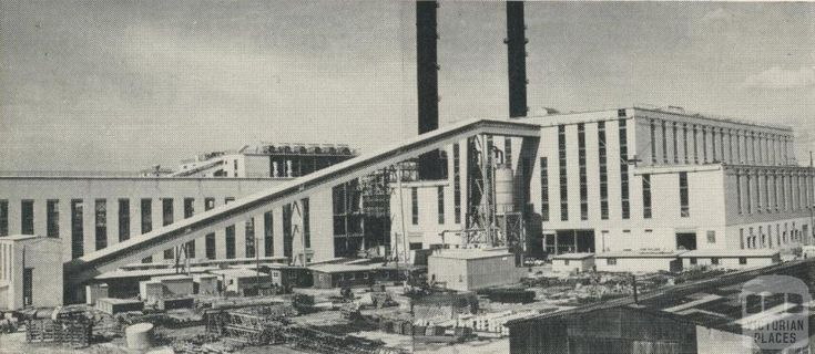 Power Station boiler house, showing coal conveyor, Morwell, 1959