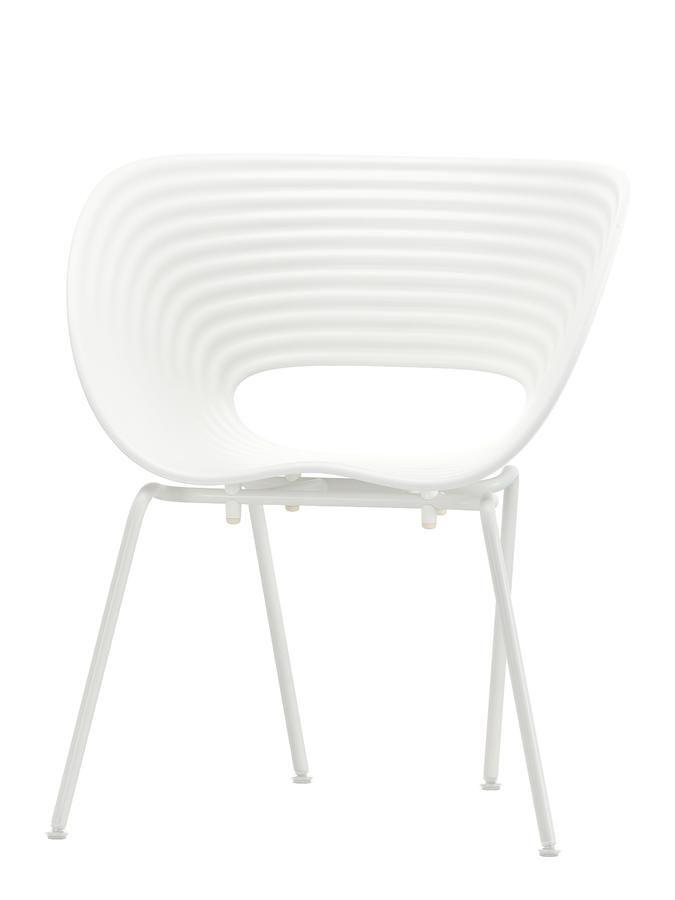 Vitra Tom Vac Weiß|Pulverbeschichtet Elfenbein Von Ron Arad, 1999    Designermöbel Von Smow
