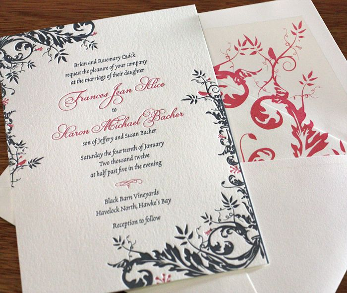 88 best customize envelope liners images on pinterest wedding elegant pink and grey floral wedding invitation with matching envelope liner invitations by ajalon stopboris Gallery
