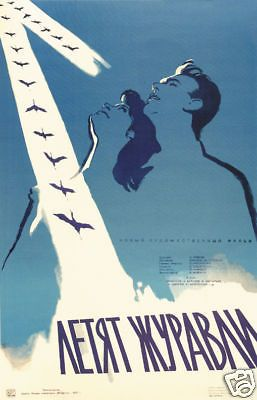 The cranes are flying 1957 cult Soviet movie poster print