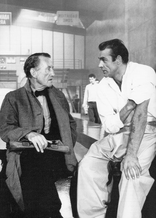 Ian Fleming with Sean Connery on set of Dr. No,