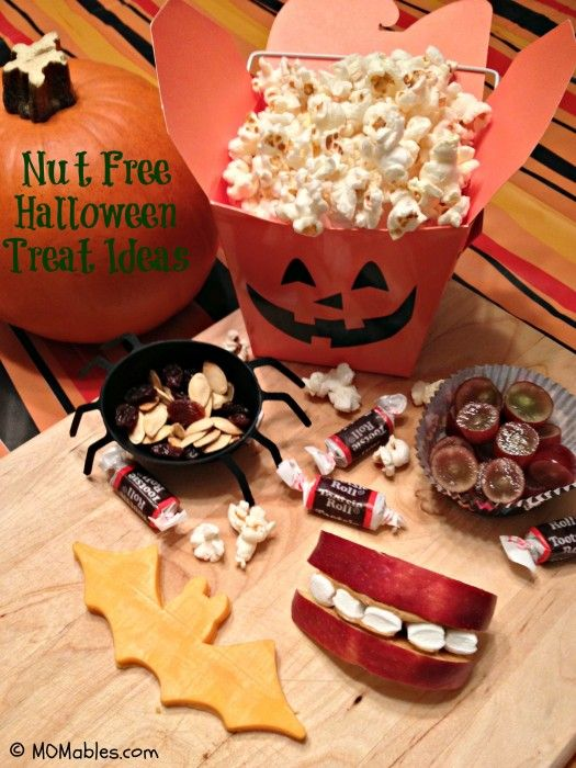 Nut-Free Halloween School Treat Ideas - PLEASE remember the little ones with food allergies during the seasons full of yummy treats.