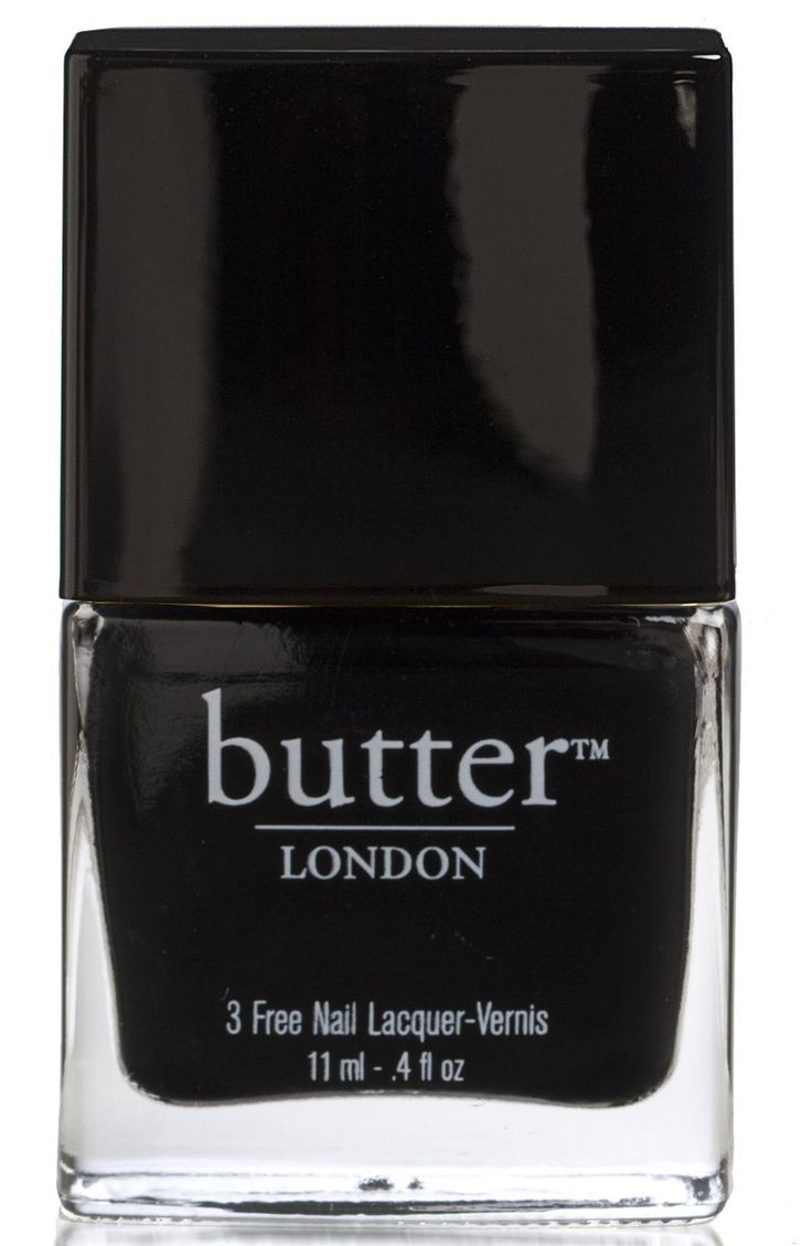 UNION JACK BLACK NAIL LACQUER This jet black nail lacquer goes on like liquid patent leather. Be warned, you may have the sudden urge to wear 6 inch stilettos and carry a riding crop.