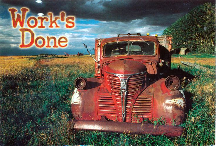 Truck Postcard from Silke in Killam, Alberta, Canada