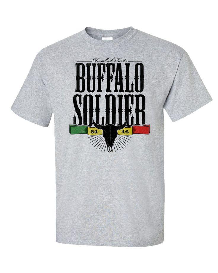 Buffalo Soldier T-Shirt Bob Marley Reggae Song Inspired Dreadlock Rasta Jamaica  #Gildan #GraphicTee