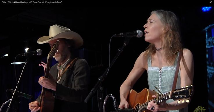"""See Gillian Welch, David Rawlings and T Bone Burnett sing """"Everything Is Free"""" on 'Music City Roots.'"""
