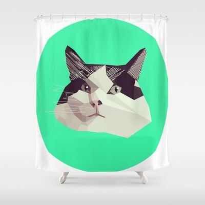 Who doesn't want a Cat Shower Curtain?