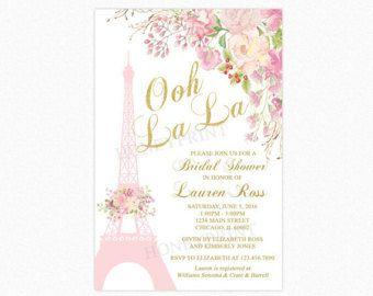 Invitación de despedida de soltera de flores de peonía Blush