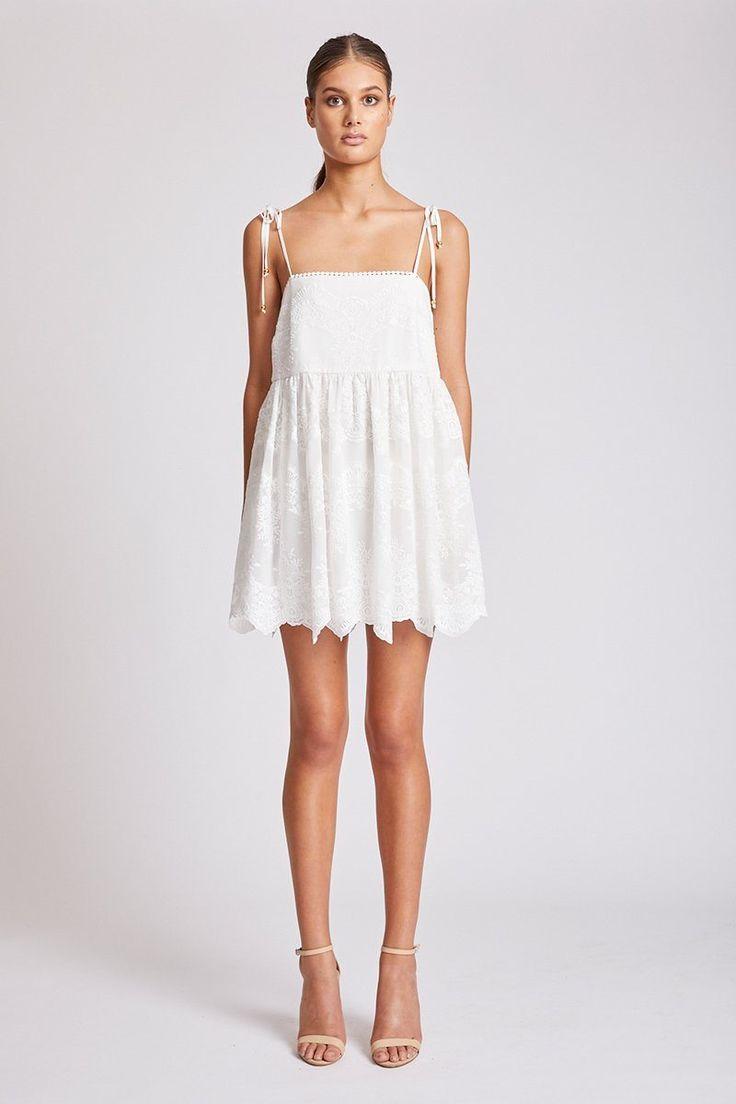 Shona Joy - Antigua Baby Doll Mini Dress Ivory