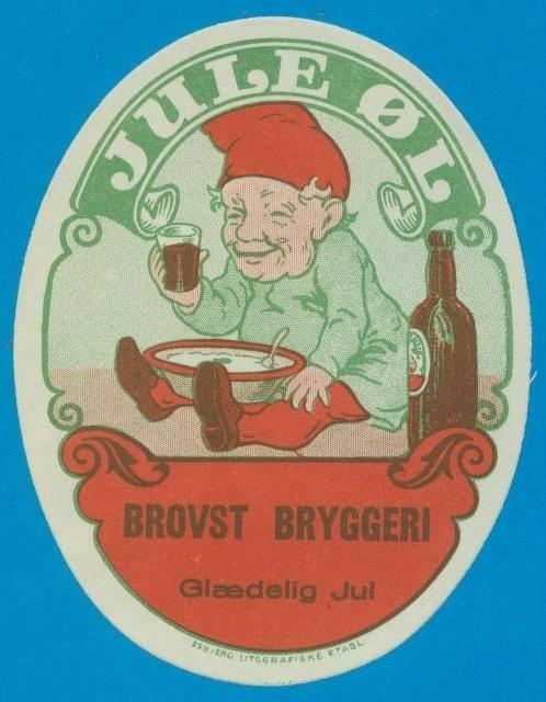 Nisseøl-etiket fra Brovst Bryggeri