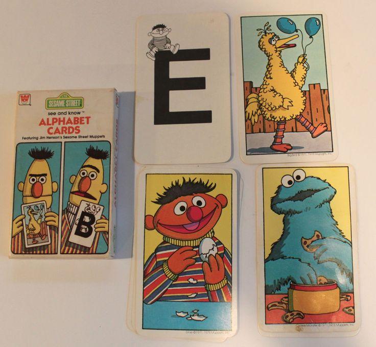 Vintage 1978 Sesame Street Alphabet Cards Jim Henson S