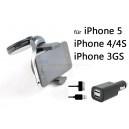 KFZ Halterung Autohalterung Auto für iPhone 5, 4/4S, 3GS + Ladegerät