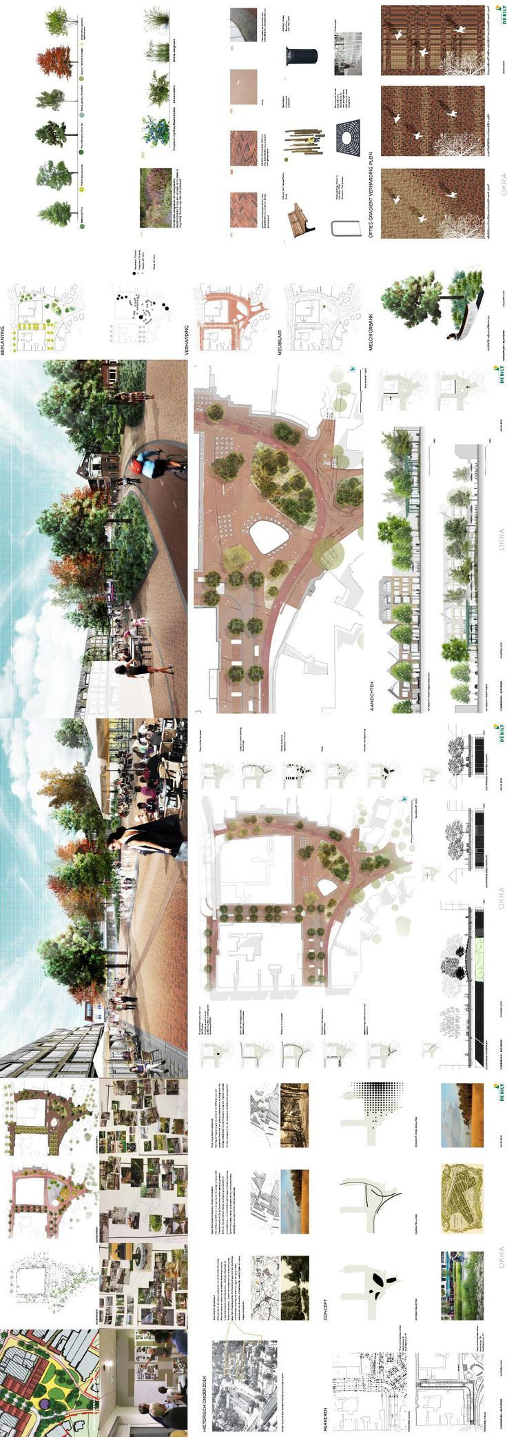 Presentation preliminary design Finch Square municipality of De Bilt. Design outdoor OKRA Landscape Architects. Design and construction by Synchronous RPHS + consulting urban design and architecture #ad