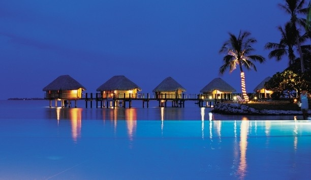Overwater Bungalows Glow In The Moonlight Manihi Pearl