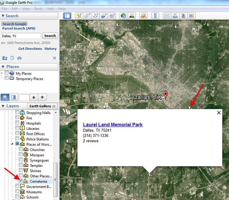 Here's how to find cemeteries in Google Earth for your genealogy and family history. (click image)
