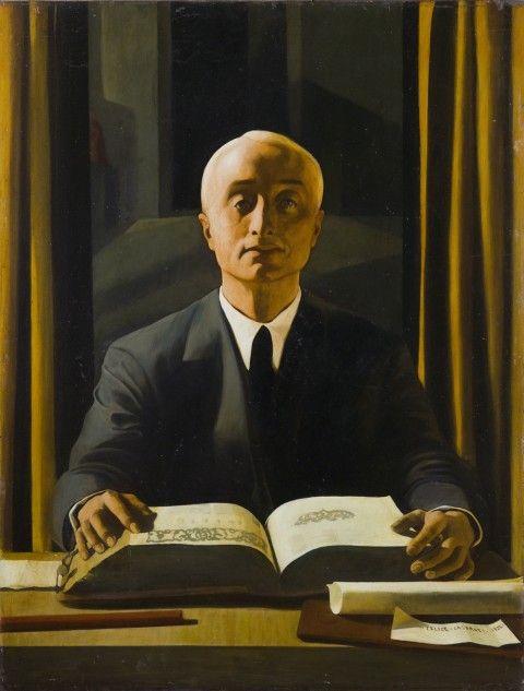 """Felice Casorati 1922 """" Ritratto di Riccardo Gualino"""""""