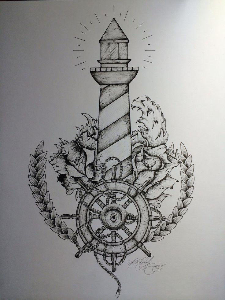 Resultado de imagem para farol desenho tattoo