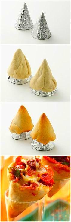 Pizza Cones ~ Portable, personalized pizza in a cone- ready…   ohlikes.com