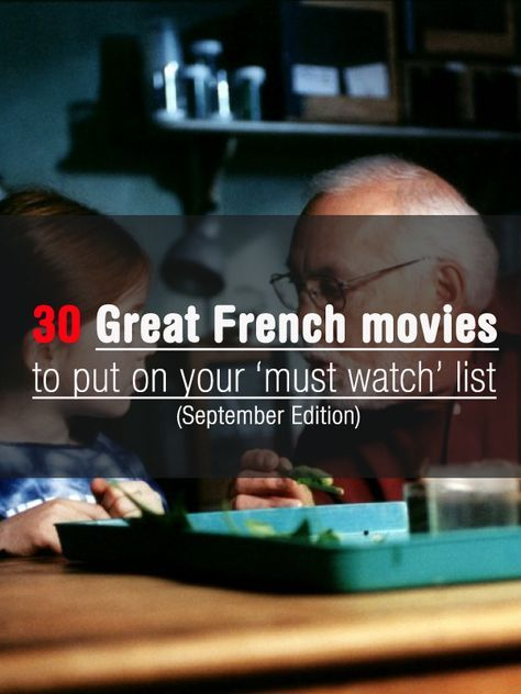 Les films francais - http://www.talkinfrench.com/september-movies-french/