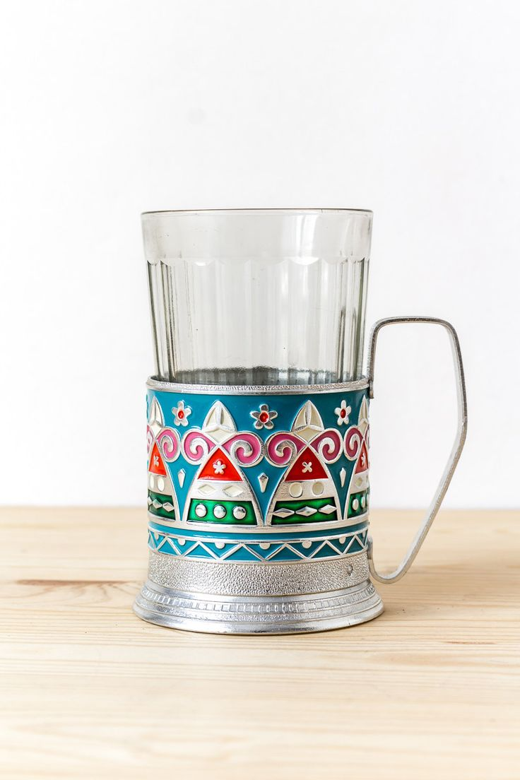 Russian tea glass holder Russian tea cup Kitsch Tea time Retro kitchen Coffee mug by TimeTestedFinds on Etsy