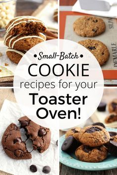 From bakery style oatmeal raisin to double chocolate chip there's a single batch toaster oven cookie recipe here for every cookie craving. Toaster Oven Cooking | Small Batch Baking | Cookies | Cooking For Two via @toasterovenlove