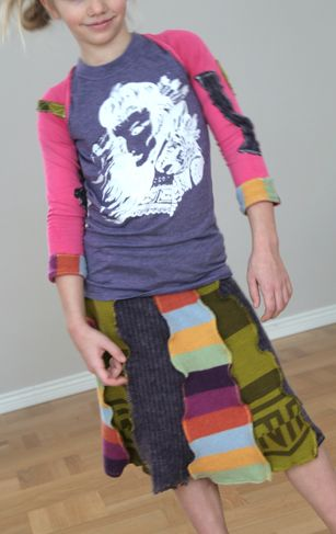 Please excuse this Pinterest interruption as I pin my own recycled winter scarf skirt to a 'made by me' board collection.