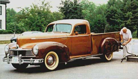 1947 Hudson Pickup. Car-based pickups make more sense for most people. Much easier to load and unload.