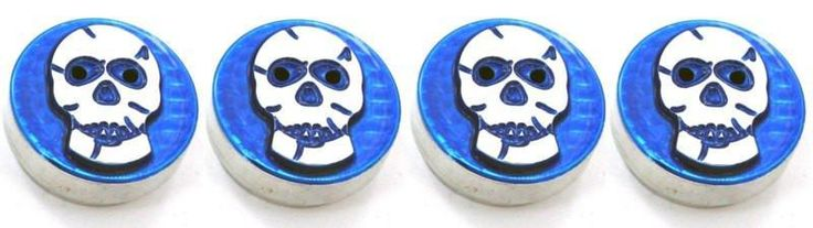 All Sales Interior Dash Knobs (set of 3 & 4wd knob)- Skull Blue