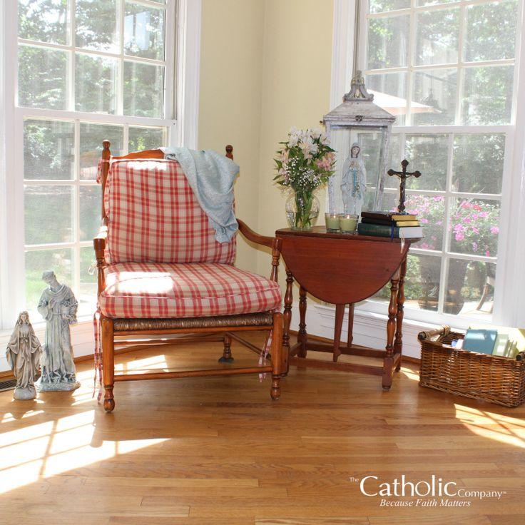 25 best ideas about prayer corner on pinterest prayer for Catholic decorations home