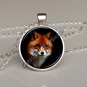 Fox Pendant Fox Necklace Woodland Jewelry Nature Necklace Glass Pendant Animal Pendant Foxy Necklace Best Gifts for FOX LOVERS Glassfulldreams Handmade Jewelry Made in UK