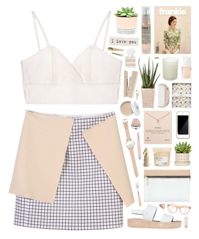 """""""Love you"""" by sarahkatewest ❤ liked on Polyvore featuring PLANT, Victoria Beckham, Le Labo, Davines, Casa Couture, Squair, Pier 1 Imports, HAY, Dogeared and Christian Dior"""