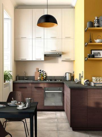 Réduire la profondeur du plan de travail pour mieux circuler dans la cuisine - Aménager une cuisine dans 6 m2