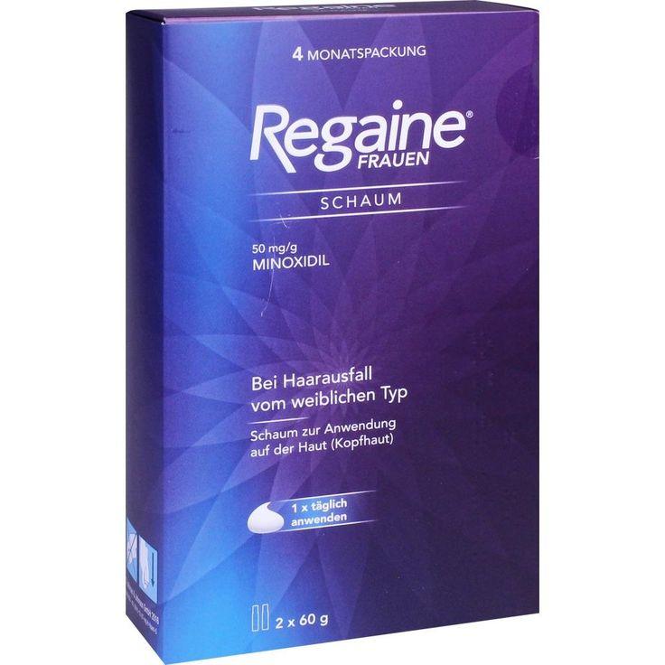 REGAINE Frauen Schaum 50 mg-g:   Packungsinhalt: 2X60 g Schaum PZN: 11082202 Hersteller: Johnson & Johnson GmbH (OTC) Preis: 41,24 EUR…