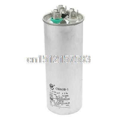 air conditioning capacitor. cbb65b-1 450vac 50/60hz 1.5uf+35uf air conditioner capacitor conditioning