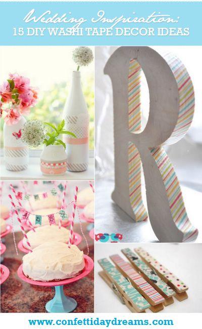 15 DIY Washi Tape Wedding Ideas | Confetti Daydreams ♥ #WashiTape #Washi #DIY #Wedding ♥  ♥  ♥ LIKE US ON FB: www.facebook.com/confettidaydreams ♥  ♥  ♥