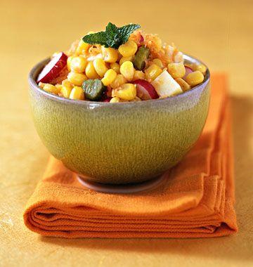 Salade de maïs, la recette d'Ôdélices : retrouvez les ingrédients, la préparation, des recettes similaires et des photos qui donnent envie !