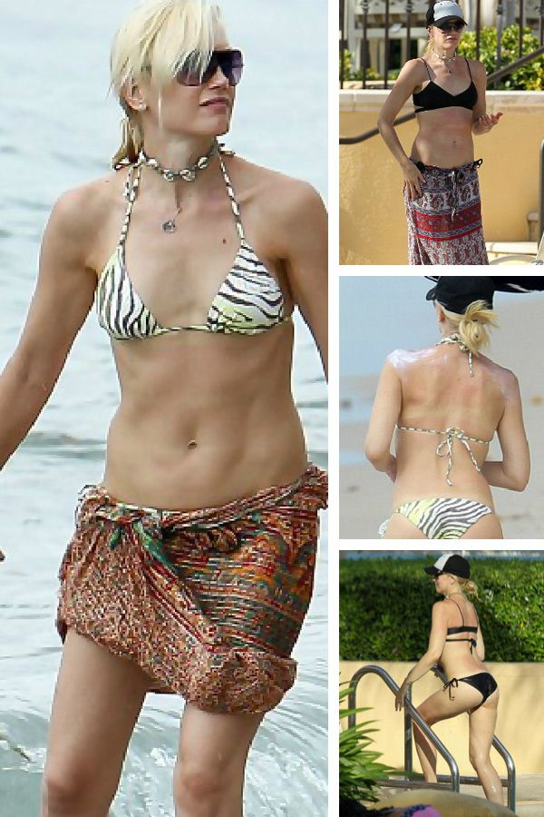 Two for the one: Gwen Stefani wears bikinis by L*Space