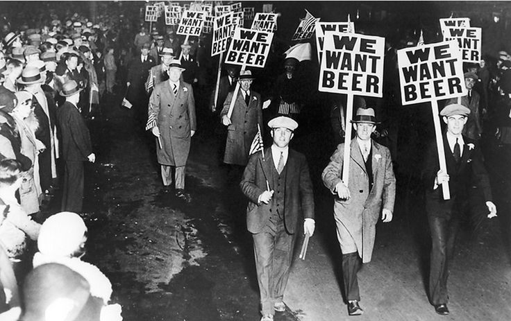 vintage everyday: Freedom advocates demand the end of alcohol prohibition, ca. 1930s