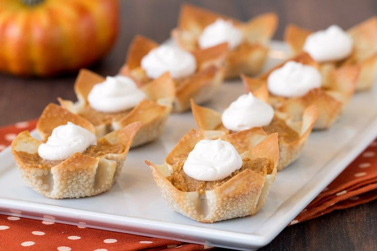 "Hungry Girl's ""World's Cutest Pumpkin Pies"" Recipe --40 calories for a little Thanksgiving dessert!"