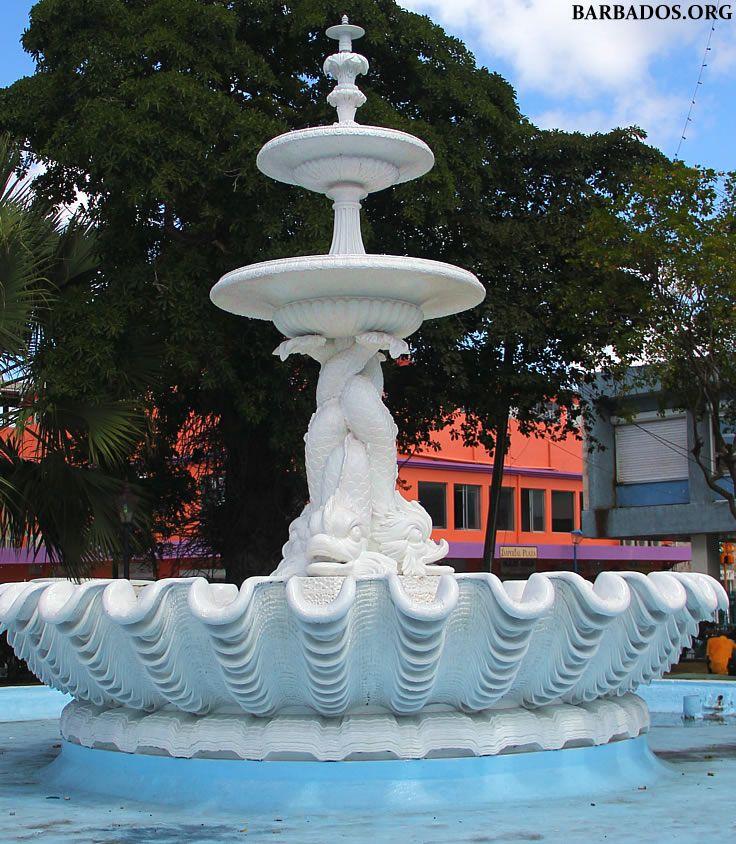 Dolphin Fountain opened in 1865 in Bridgetown