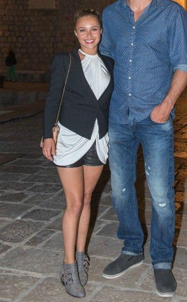 Hayden Panettiere wearing Chloe Susanna boots