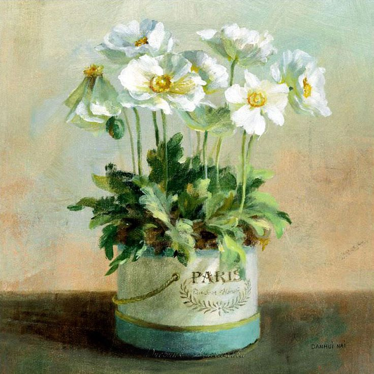 Find This Pin And More On White Flower Paintings