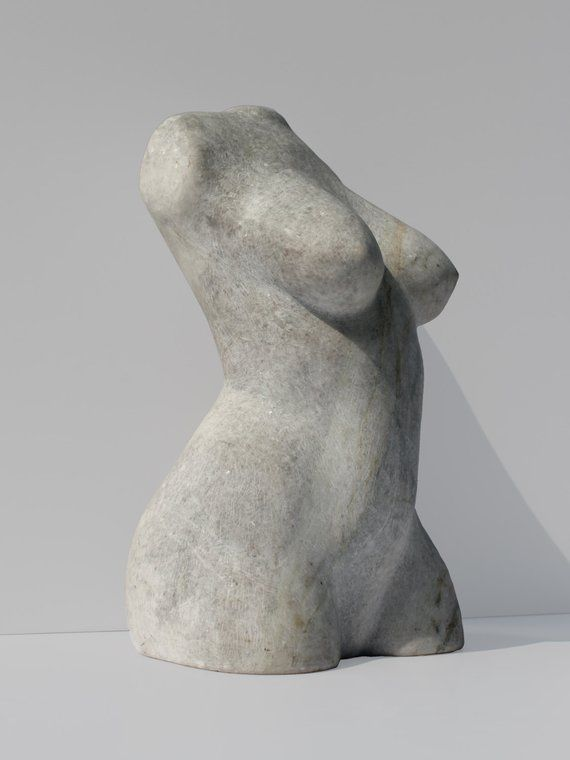 Escultura figurativa em mármore 'Vênus com cicatriz' | Arte clássica | Torso feminino | Escultura em pedra | Pedra esculpida | Art Deco | Decoração de casa   – Kunst