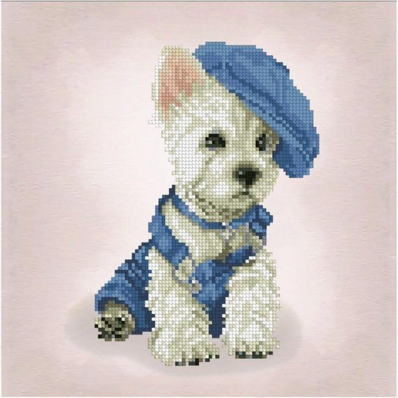 e66a02c3a Cross Stitch Kit Puppy Dog DIY Cross Stitch Set Stitching Hand ...