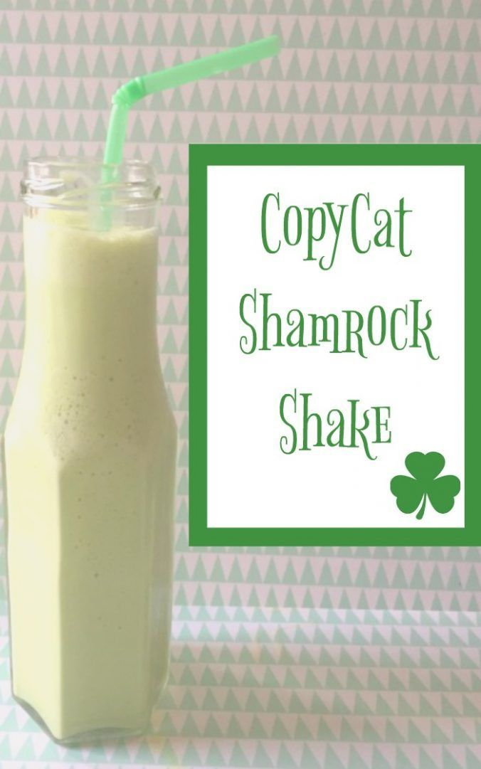 Copycat Shamrock shake - perfect for ST Patricks Day (or any other day)....