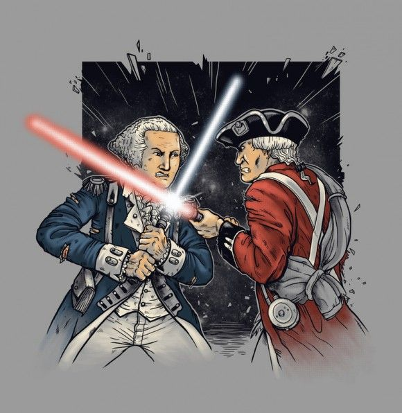 May The Fourth Be With You French: American Revolution...George Washington And Lightsabers