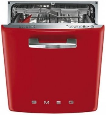 Smeg DI6FABR2 red semi integrated dishwasher